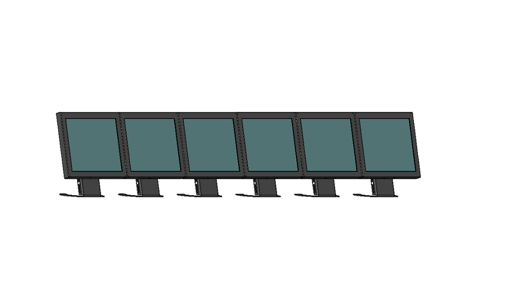 Видеостена MyPOSeq-VideoStand прикассовой зоны